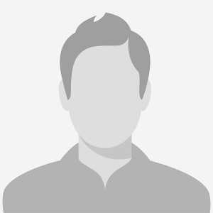 Grayscale illustration of male team member.