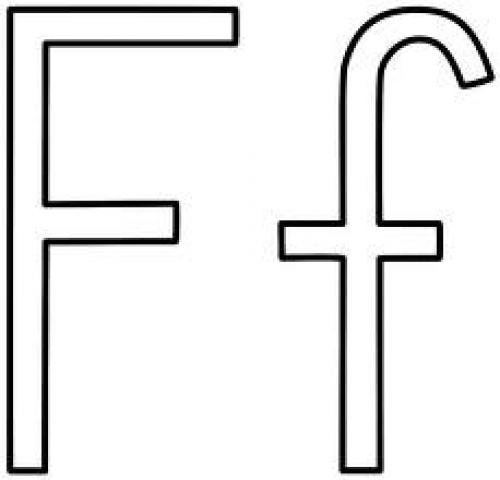 Letter F Black Art Clip