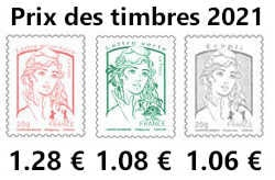 Prix du timbre 2021