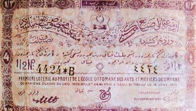 osmanlı piyango bileti