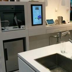 The kitchen setup