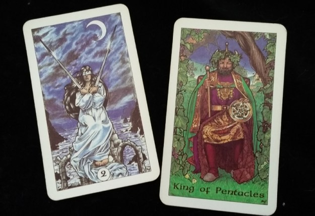 The two-card tarot reading example