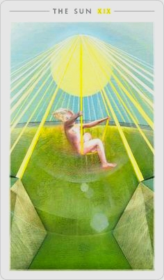 The Sun, Fountain Tarot