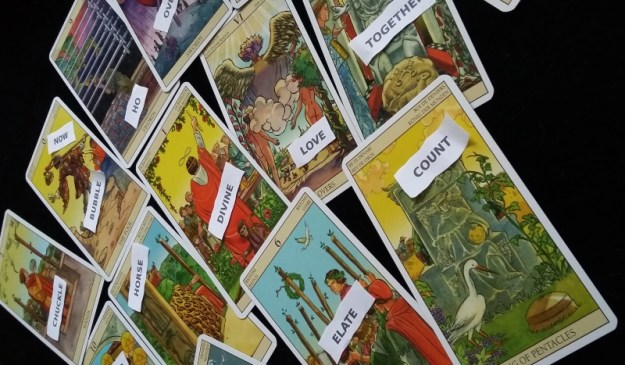 Switchwords with tarot cards
