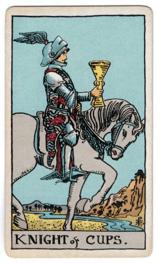 Knight of Cups > Page of Pentacles > Four of Pentacles | [TAROT]