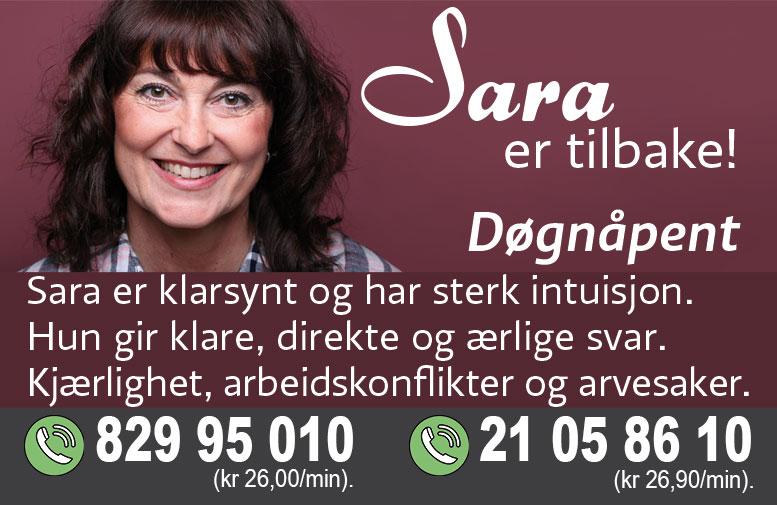 Sara er tilbake!