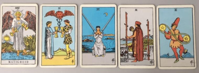 De Matigheid en de 2 kaarten uit het Waite Smit Tarot deck