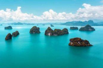 Zee met eilandjes