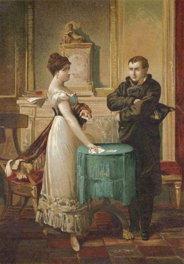 Napoleon consulteert Mlle Lenormand