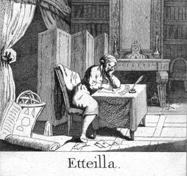 Eteilla schrijft aan zijn Tarot correspondenties