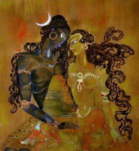 Tarô tântrico casar com a existência união Shiva/Shakti confiança absoluta