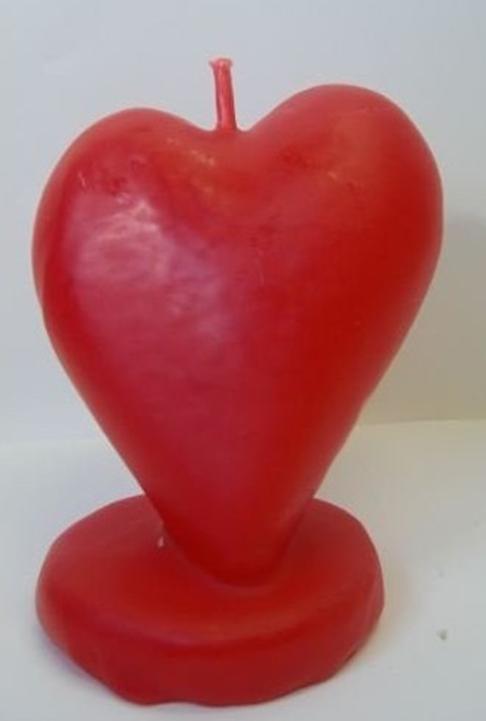 vela corazón rojo