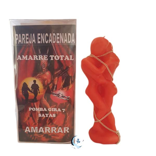 Ritual de pareja encadenada rojo
