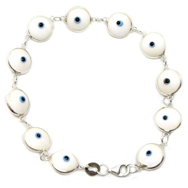 Pulsera ojo turco Blanco