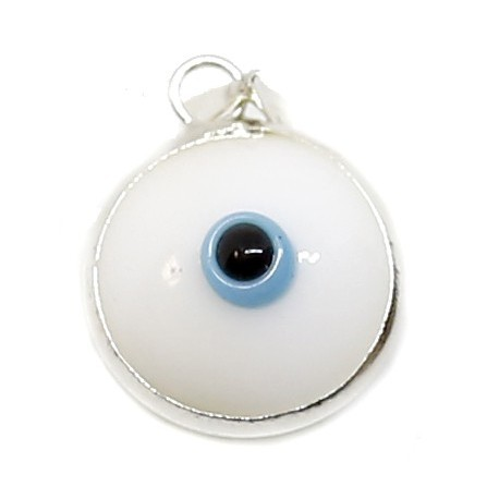 Colgante ojo turco blanco