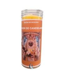 Velón de oración con aceite Virgen de la Candelaria