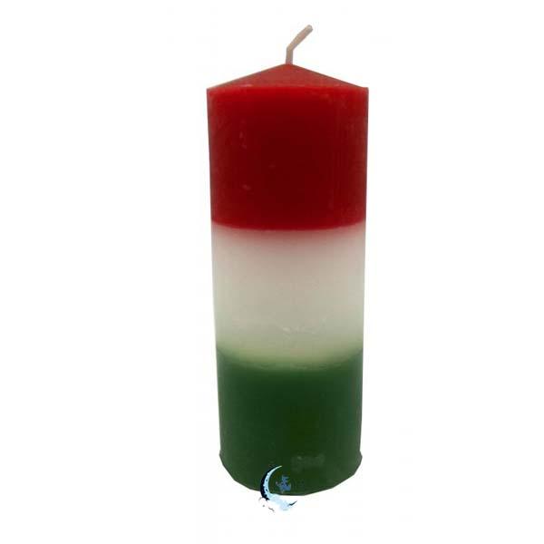 Velón tricolor rojo blanco verde