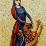 11 Strength Old English Tarot deck by Maggie Kneen