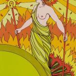 32 Princess of Wands Tarot of the Sephiroth, Dan Staroff