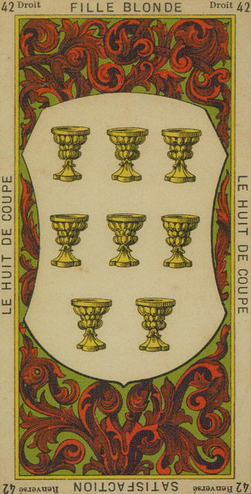 42 8 of Cups – The Etteilla Tarot, The Book of Thoth | The