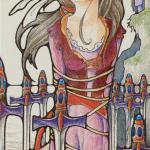 57 8 of Swords The Hanson-Roberts Tarot deck