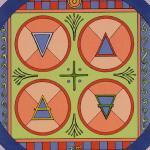 67 4 of Coins Tarot of the Sephiroth, Dan Staroff