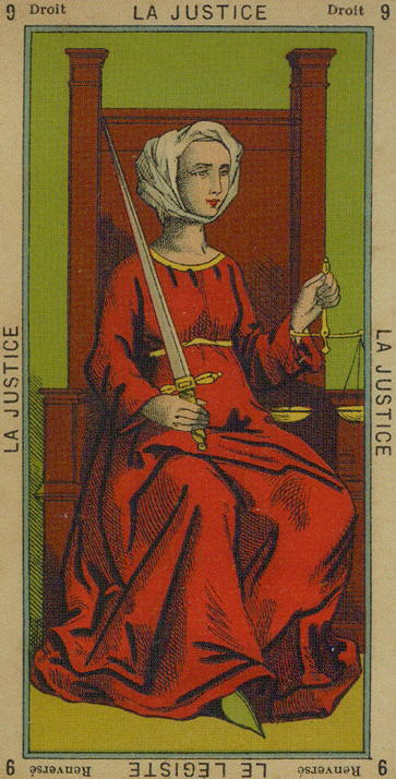 9 The Justice – Justice-Law man (Judge) – The Etteilla Tarot