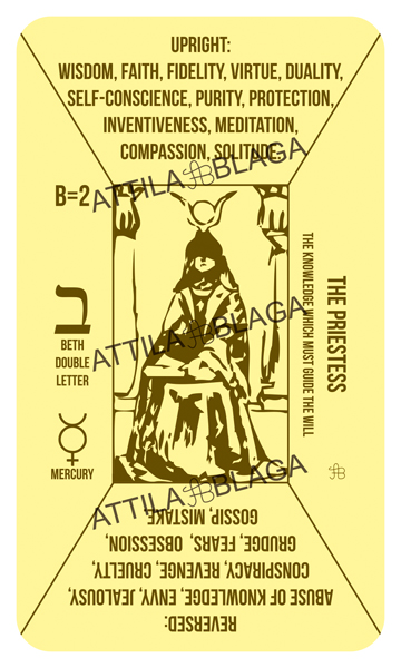 Traditional Divinatory Tarot, The Priestess