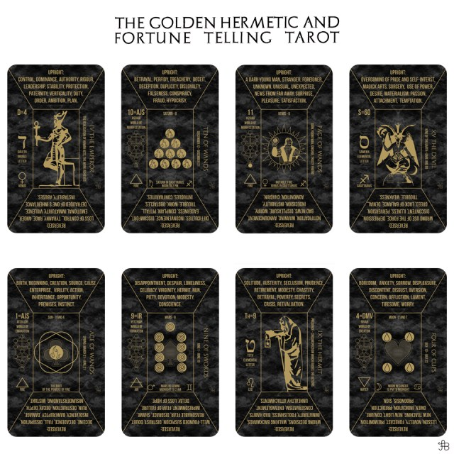 The Golden Hermetic and Fortune Telling Tarot 2018