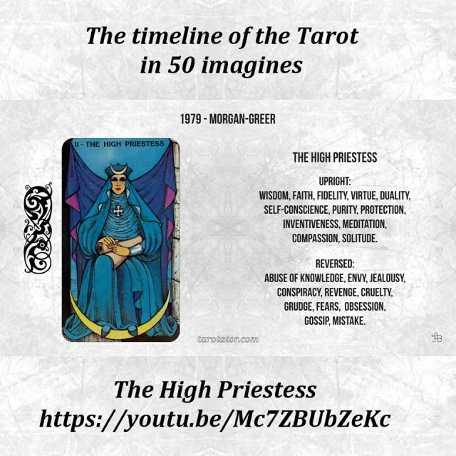 Tarot timeline in 50 imagines, video 02 The High Priestess