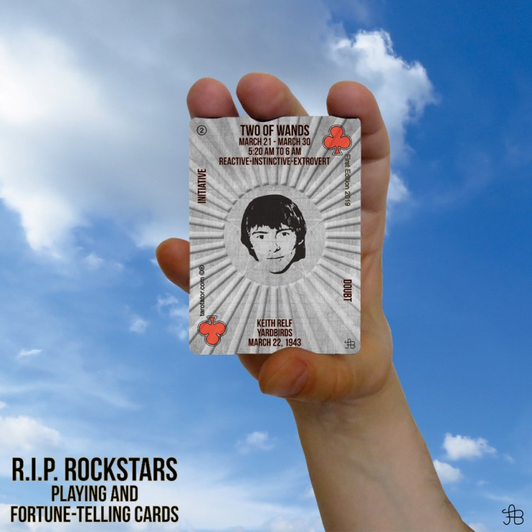 RIP Rockstars Two of Wands Keith Relf