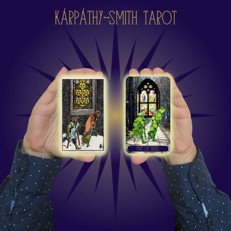 Karpathy-Smith Tarot Five of Disks