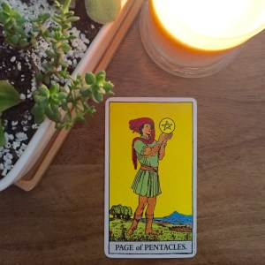 Page of Pentacles - Rider Waite