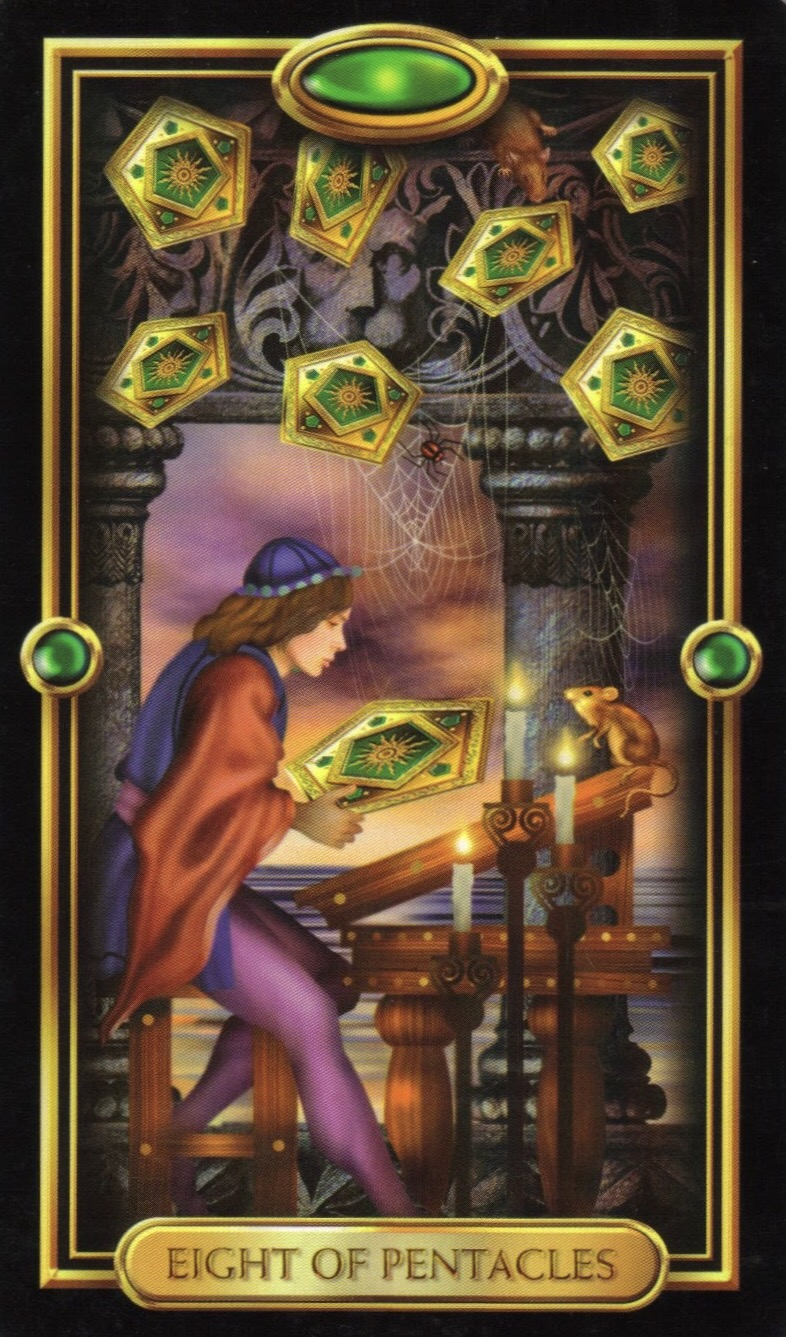 Card of the Day – 8 of Pentacles – Sunday, October 29, 2017