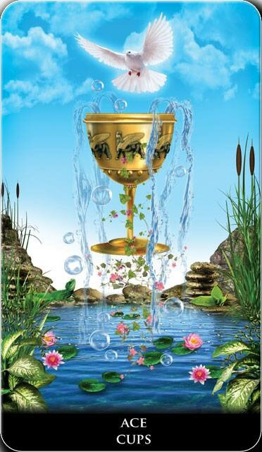 Featured Card of the Day – Ace of Cups – New Babylonian