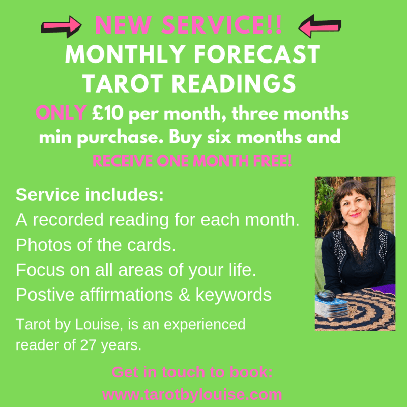 personalised monthly tarot forecasts