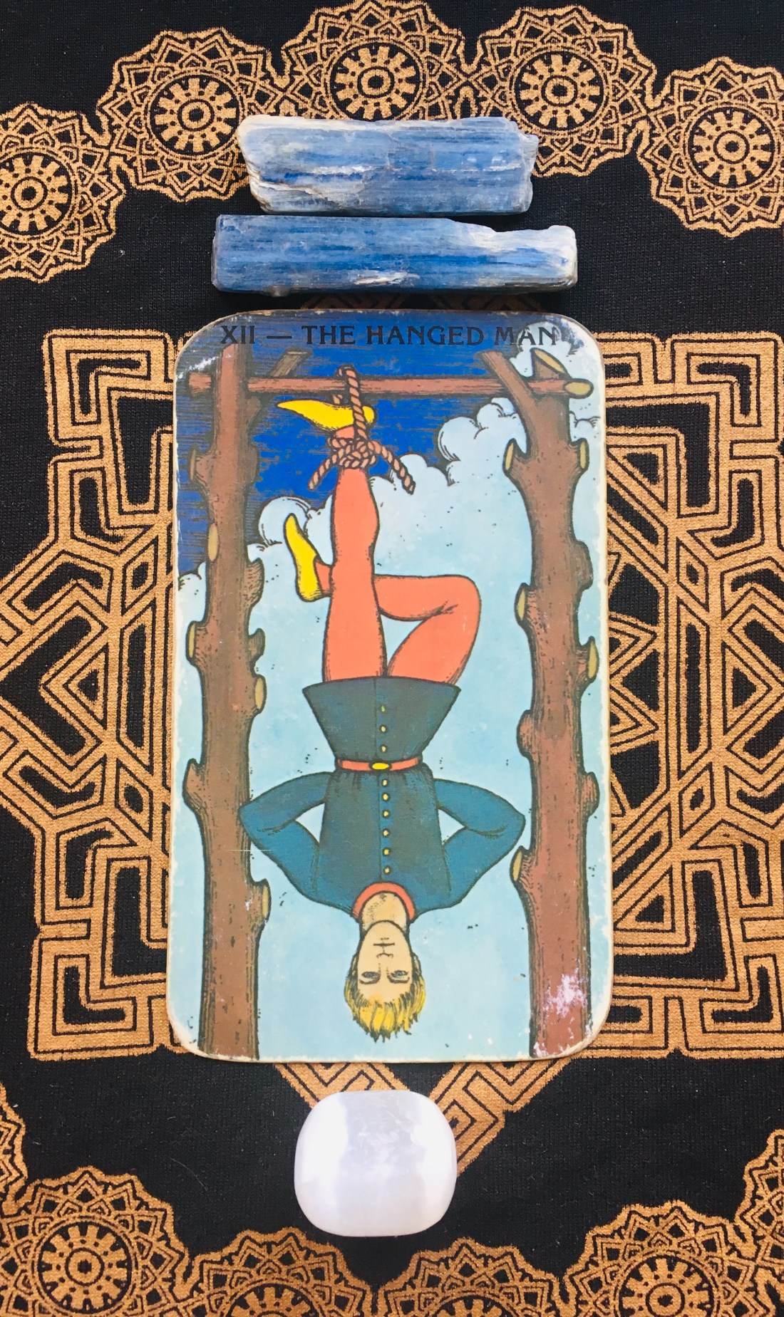The Hanged Man, Tarot card.