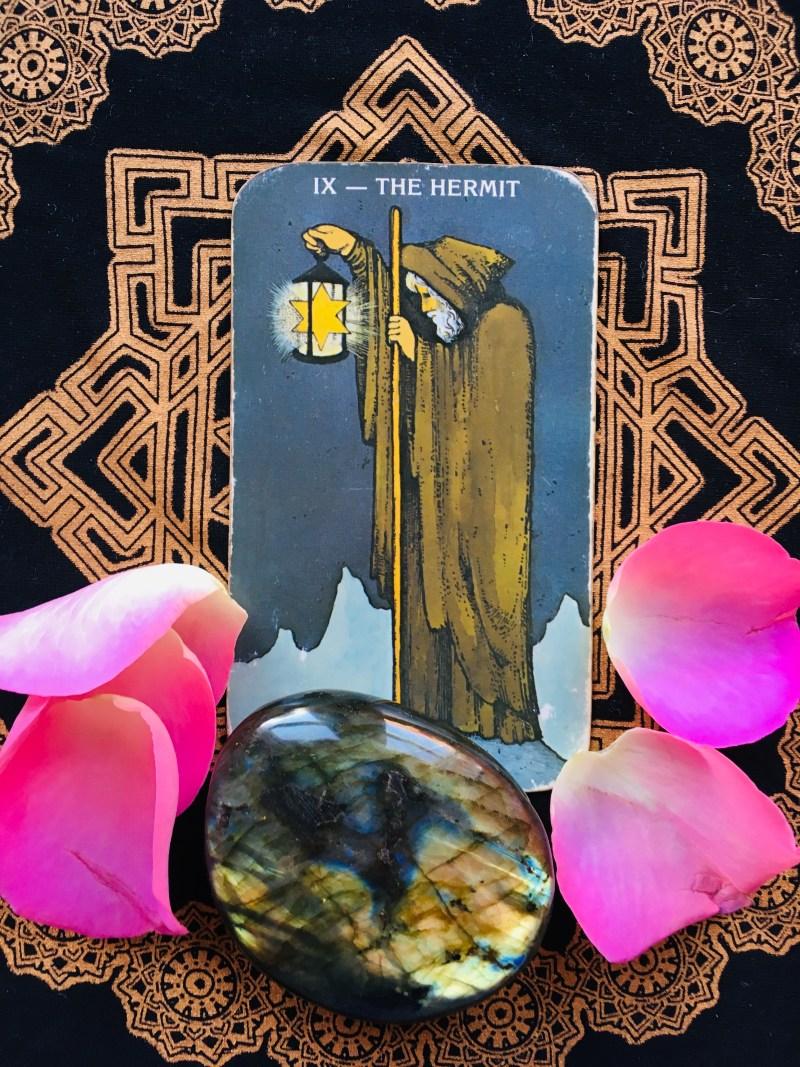 The Hermit Wisdom Tarot card