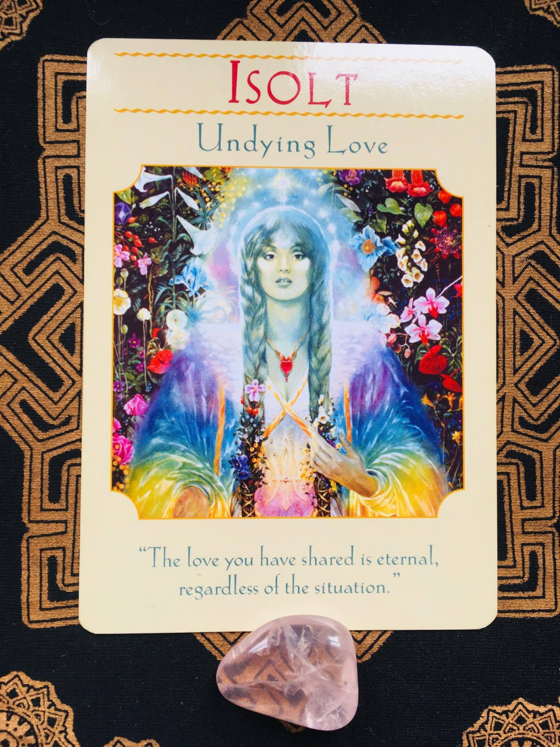 card of the week and Isolt and deepening love