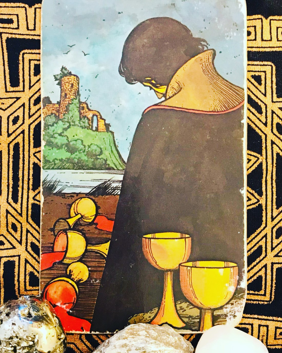 Emotional courage and the five of cups Tarot card of the week for Febraury 22nd, 2021