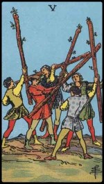 5 of wands - January 2015 Forecast