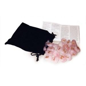 Rose Quartz Runes. Руны Lo Scarabeo из розового кварца, в коробке, 25 штук.