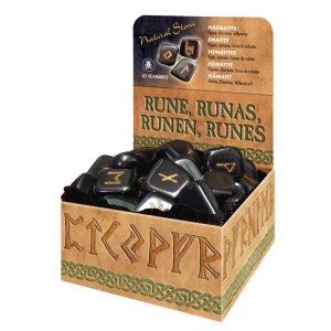 Haematite Runes. Руны Lo Scarabeo из гематита, в коробке, 25 штук.