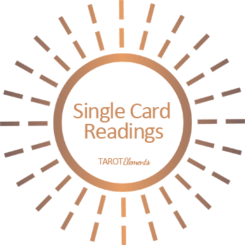 single tarot card reading logo