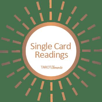 single tarot card reading logo