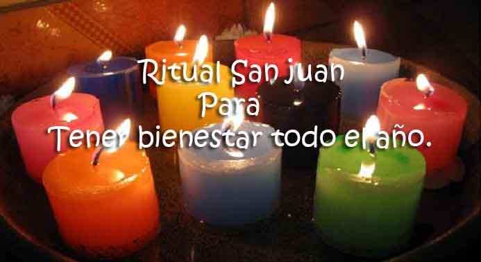 Ritual San juan - Tener bienestar todo el año.