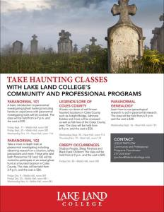 LLC Haunted Classes