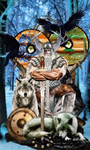 Odin as King of Swords / Tarot Apokalypsis by Erik Dunne & Kim Huggens