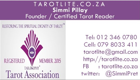 tarotlite.co.za - business card