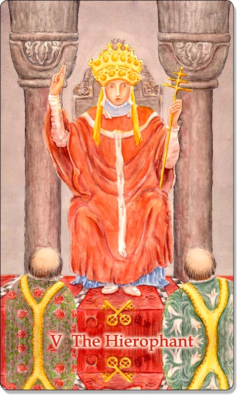 Image of The Hierophant card